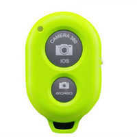Fashion Green Wireless Bluetooth Camera Remote Control Self-timer Shutter For Samsung Iphone, Free & Drop Shipping