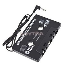 New FOR MP3 CD MD DVD For Clear Sound Music Car Cassette Tape Adapter Drop Shipping(China (Mainland))