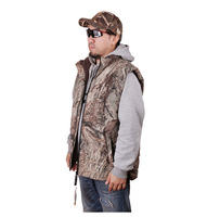 Free shipping Browning camouflage thick cotton AP bionic camouflage hunting and fishing vest warm fleece quilted vest C138
