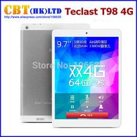 Original Teclast T98 4G LTE MT8752T 64Bit Octa Core Android 4.4 Tablet PC 9.7inch 2048x1536 Screen 2GB/16GB Phone Call 13.0MP