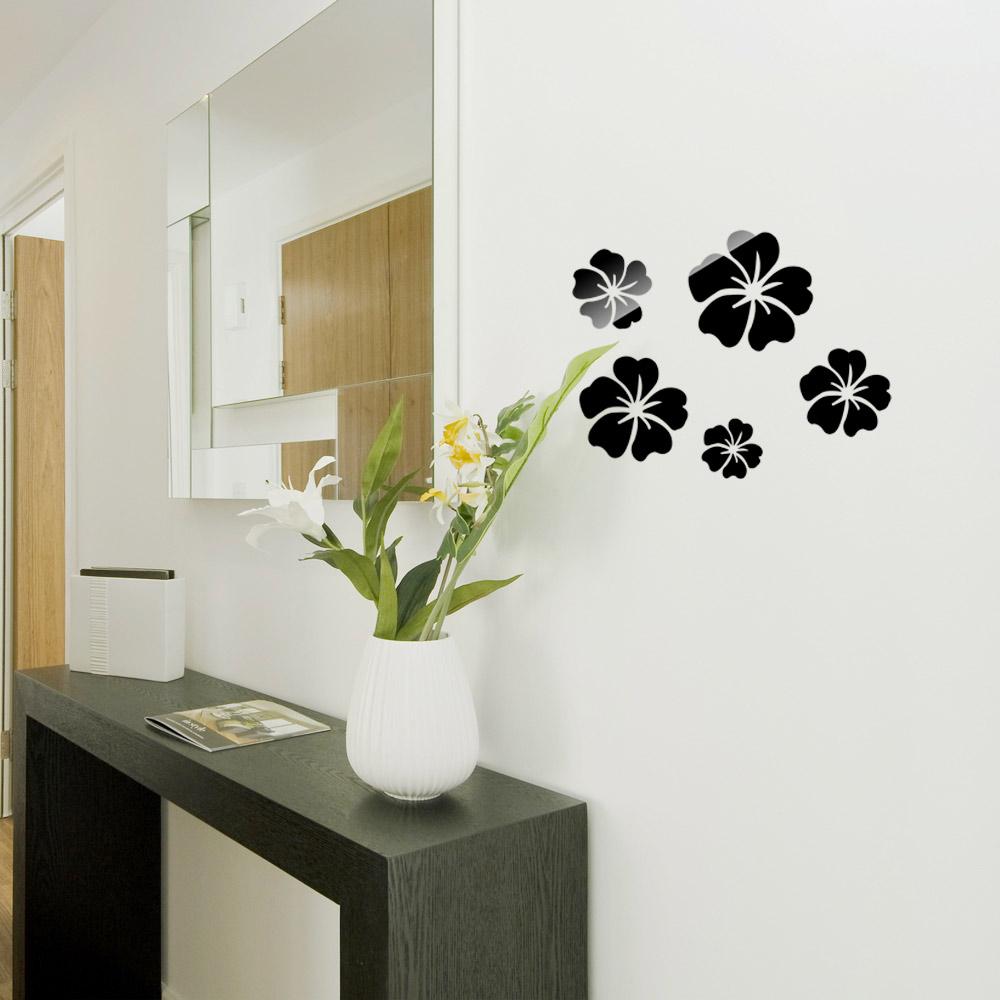 Стикеры для стен OEM 5pcs 3D DIY Mirror Wall Sticker стикеры для стен oem diy 3d ay9985