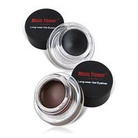 New Brand Maquiagem 2 em 1 Brown+Black Gel Eyeliner Waterproof Eyeliner Easy to Wear Eyeliner To Eye Fast Shipping Hot Sale