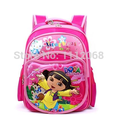 Grátis frete Dora a mochila Explorer 3D Dora bonecas sacos de estudantes saco de escola mochila infantil mochila escolar Dora aventureira(China (Mainland))