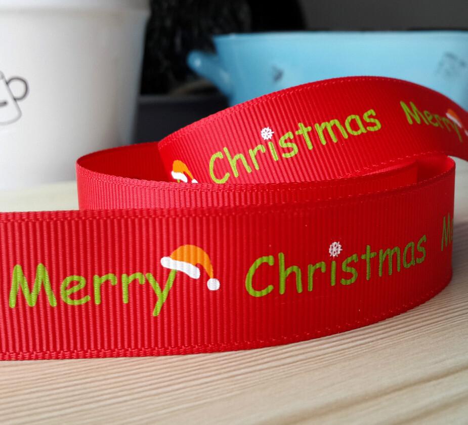 1'' (25mm) Ribbon checked ribbon printed grosgrain ribbon DIY accessories Gift tied 100 yards/roll(China (Mainland))