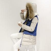 DHL free shipping 2014 Women medium-long down jacket Slim luxury large fur collar down coat Plus size thickening women's cloth