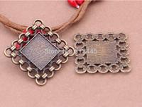 20pcs Square Pendant Trays,bezel tray,12mm Blanks Bezel Setting charm pendant