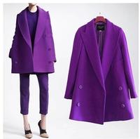 European women's new winter long thickening wool over long coat