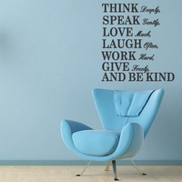 8031 THINK manufacturers in Europe and America carved wall stickers English Proverbs English poetry zooyoo custom wall stickers