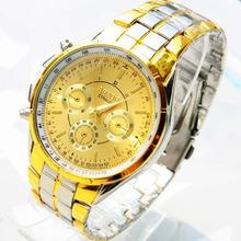 New 2014 Fashion Quartz Watch Men Stainless Steel Luxury Sport Analog Clock Men's Wrist Watch for men Free shipping Gift