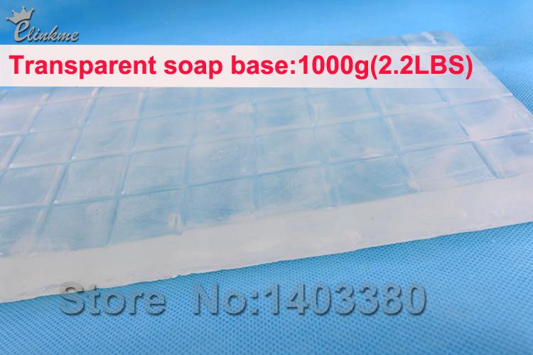 1pc/ 1kg( 2.2lbs) عالية الجودة الصابون الشفاف قاعدة الصابون اليدوية diy قاعدة الصابون المواد الخام لصناعة الصابون. الشحن مجانا(China (Mainland))
