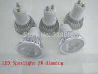 5pcs/lot 3W dimming GU10 AC90-26V LED Spotlight floodlight white/warm white outdoor lighting