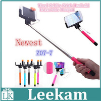 Newest Z07-7 2in1 Wired Selfie Stick Handheld Extendable Monopod With Buit-in Shutter Audio Cable Connect For iOS Android Mobile