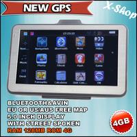 X-SHOP New GPS HD  GPS Navi,128MB RAM,BLUETOOTH,AV-IN,4GB 2012 MAP Russia/Belarus/Ukraine/Brazil map