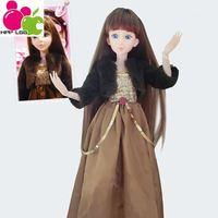 1/3 BJD Dolls Baby Toys Dolls For Girls Classic Toys For Children Fashion DIY Dolls SD Dolls Brand New Chocolate Girl 60cm 6004