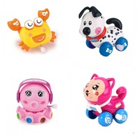 4pcs/Lot Wind-up Toy Inertia Clockwork Animal for Baby, Toddler and Kid