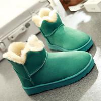 Winter involucres plus warm snow boots female boots slip-resistant women's platform shoes wave cotton boots