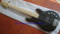 Musicman black bass 5 strings BASS Active pickups Maple Fretboard 2015 new China bass