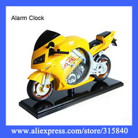 1pc/Lot New 2014 Cool Motorcycle Shape Alarm Clock Despertador 4 Colors Christmas New Year Gifts -- CLK27 PA05 Wholesale