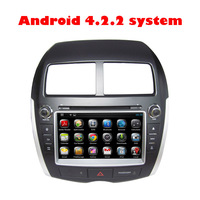 BY DHL EMS Russian menu Android 4.2.2 Touch Screen Car DVD Player for Mitsubishi ASX 2010-2012 PEUGEOT 4008 2012 CITROEN C4