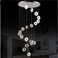 modern19 head crystal chandelier Silver Crystal Ring LED Chandelier Crystal Lamp / Light / Lighting Fixture  LED Circle Light
