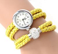 1pc Hot Sale Elegant Women's Bracelet Quartz Watch Ribbon Thread Reloj Mujer wristwatches Free shipping