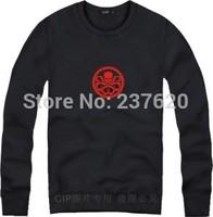 Free shipping Winter/Autumn streetwear sweatshirt american captain fleece sweater hydra skull printed sweatshirt 8 color