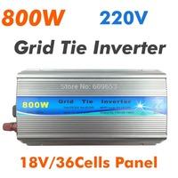 800W Grid Tie Inverter MPPT function,Pure Sine wave 220Vac output,18V 36cells input,Micro on grid tie inverter 10.8--28VDC MPPT