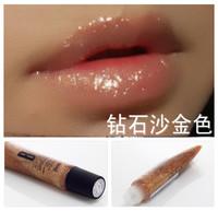 NEW HOT Bob diamond sand gold lip gloss gold plumbing hose diamond lip gloss high quality free shipping