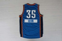 2014 -15 christmas day Oklahoma City #35 Kevin Durant Men's basketball jersey blue