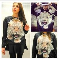 New Autumn Hoodies Leopard Printed Pullovers Lovers Fashion Shirt TNP001