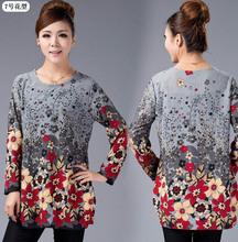 20 COLOR! XL,XXL,3XL,4XL,5XL! 2015 New Winter Big Plus Size Shirt for Women Camisas Blusas Cotton Woman Printed Blouse Top Tunic(China (Mainland))