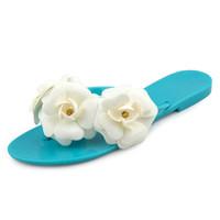 melissa jelly shoes camellia flip flops beach slippers female flat sandals rhinestones flower flip slipper women summer sandals