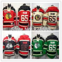 New Chicago Blackhawks Hoodies Jerseys #65 Andrew Shaw Old Time Hockey Hoodies Sweatshirts Black Skull Green Red Beige M-3XL