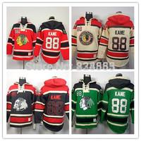 New Chicago Blackhawks Hoodies Jerseys #88 Patrick Kane Old Time Hockey Hoodies Sweatshirts Black Skull Green Red Beige M-3XL