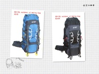 freeshipping Outdoor climbing bag /black/blue/outdoor couple backpack 60+10L large capacity outdoor day life rando T8807(2)