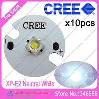10pcs/lot! Cree XLamp XP-E2  XPE2  Neutral White 4000K-4500K 220LM 1W 3W LED Light Emitter on 16mm Platine Heatsink