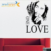 8143 Hot sale  English Proverbs BOB MARLEY ONE LOVE living room removable wall stickers wallpaper backdrop