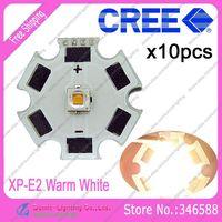 10pcs/lot! Cree XLamp XP-E2  XPE2  Warm White 3200K-3500K 220LM 1W 3W LED Light Emitter w/20mm Star Platine Heatsink