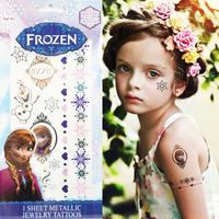 Gold Glitter Tattoo Cut Waterproof Metallic Tattoo Sticker Beautiful Totem Tattoo Temporary Tattoos Lettering For Chird Kids A2