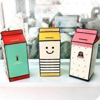 2PCS  Novelty Korea DIY Milk piggy bank Student gift Storing Coin Box