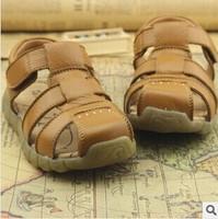 new fasion summer genuine leather boy sandals