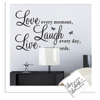 8023 Hot sale  exclusive English / Amazon /  Live Laugh wall stickers wholesale a generation of fat