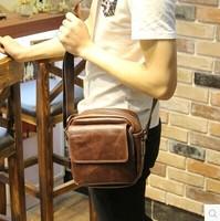 New casual vintage men messenger bag cross body bag leather shoulder sprots classical genuine leather bags for men leather bag