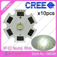 10pcs/lot! Cree XLamp XP-E2  XPE2  Neutral White 4000K-4500K 220LM 1W 3W LED Light Emitter on 20mm Platine Heatsink