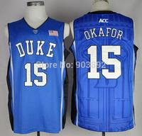 Ncaa Duke Blue Devils #15 Jahlil Okafor blue college basketball jerseys mix order free shipping