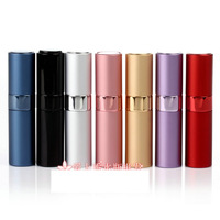 8ml Twist Perfume travel sprayer Rotate Perfume bottle refillable spray bottles perfume atomizer empty cosmetic containers