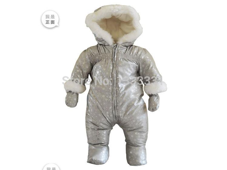 Winter Baby Boy Romper Corduroy Cotton France Brand Weatherproof Warm Hooed Newborn Winter Rompers Baby Coat snowflake pattern(China (Mainland))