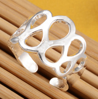 Beautiful ring Free Shipping Wholesale Resizable silver ring & Toe Ring, 925 sterling silver jewelry fashion jewelry