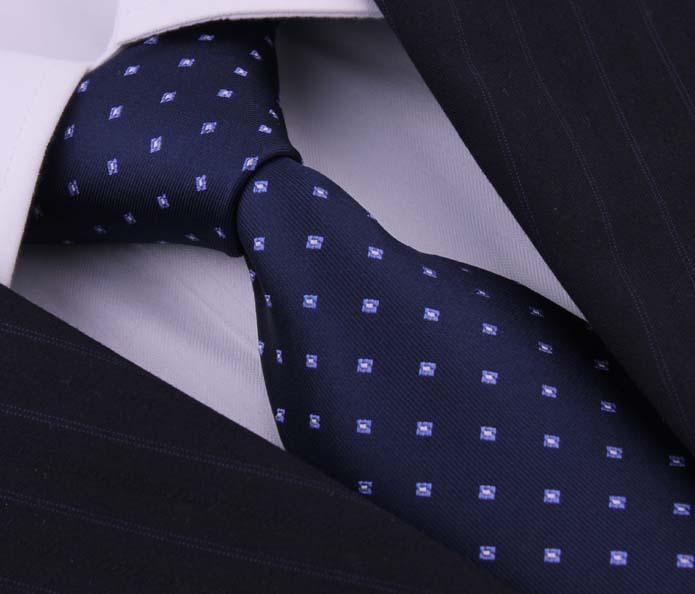 Classical Blue Dot Silk Ties Corbatas Neckties For Man Gravatas Masculinas Corbatas Seda Fashion Brand Gifts