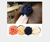 Wholesale! 1piece/lot High-quality  Korean style layers of chiffon flower hair bands elastic hair bands,hair rope,free shipping